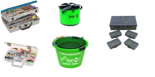Plastové boxy, kbelíky